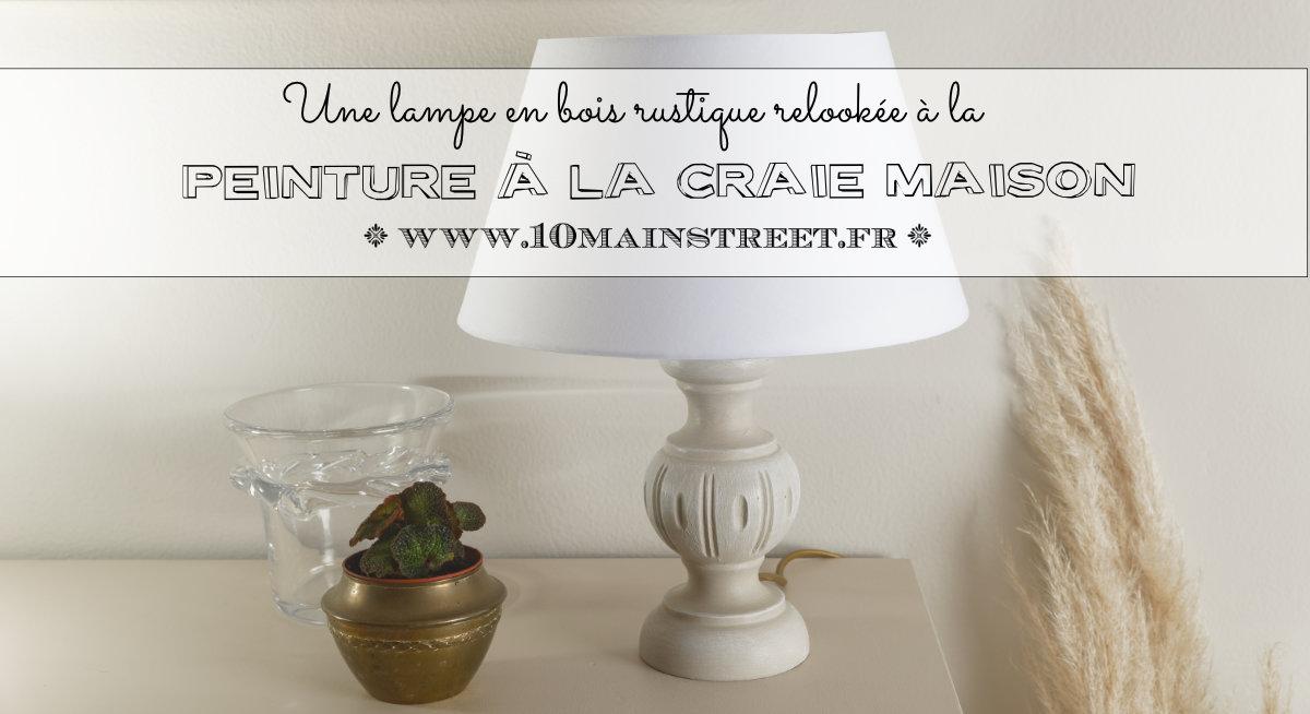 Une lampe en bois rustique relookée à la peinture à la craie maison