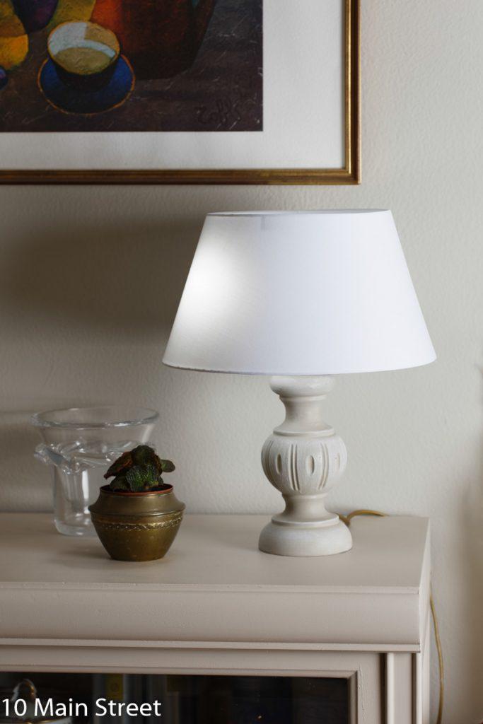 La lampe en bois rustique relookée