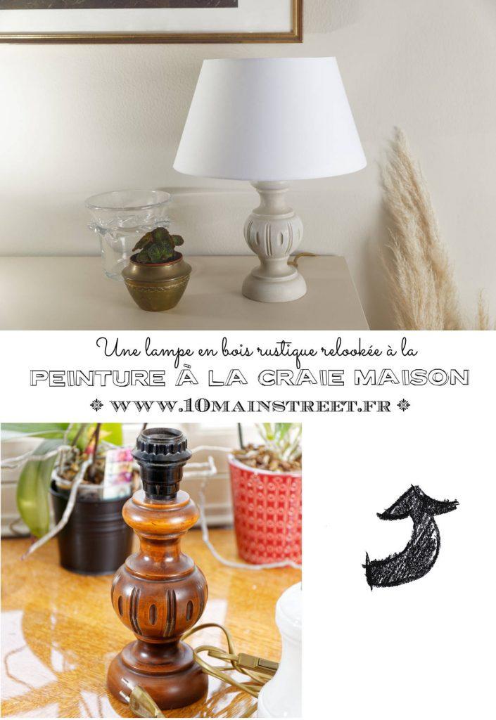 Une lampe en bois rustique relookée à la peinture à la craie maison | DIY Chalk Paint | upcycling