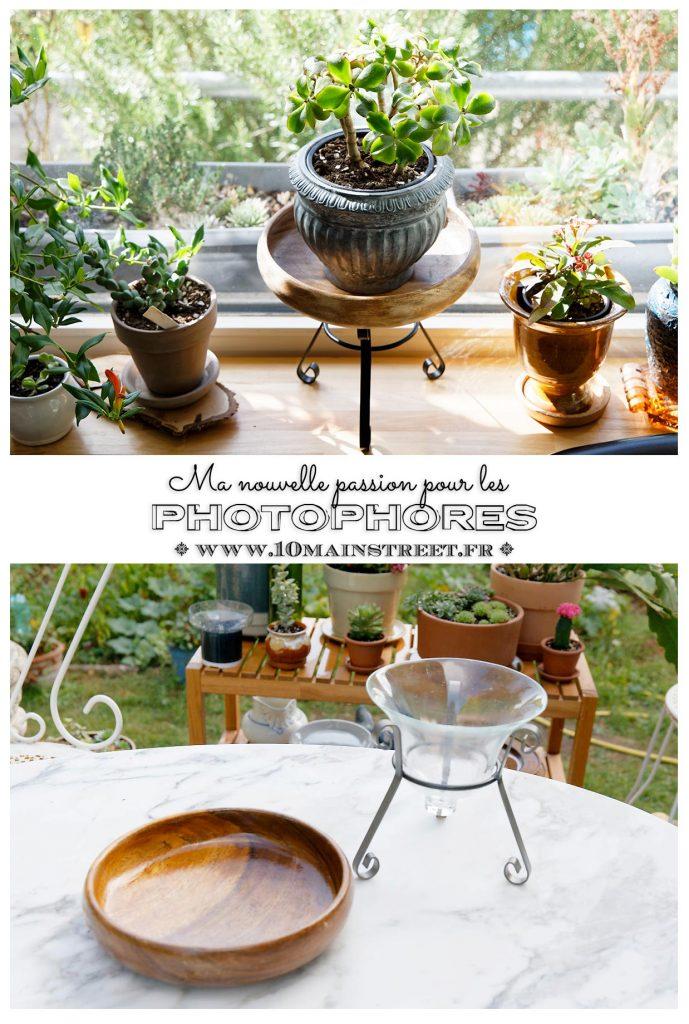 Un photophore métallique + un bol en bois convertis en support à plante - DIY Plant Stand - Thrift flip