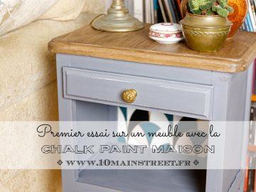 Chalk paint maison au plâtre : premier essai sur un meuble