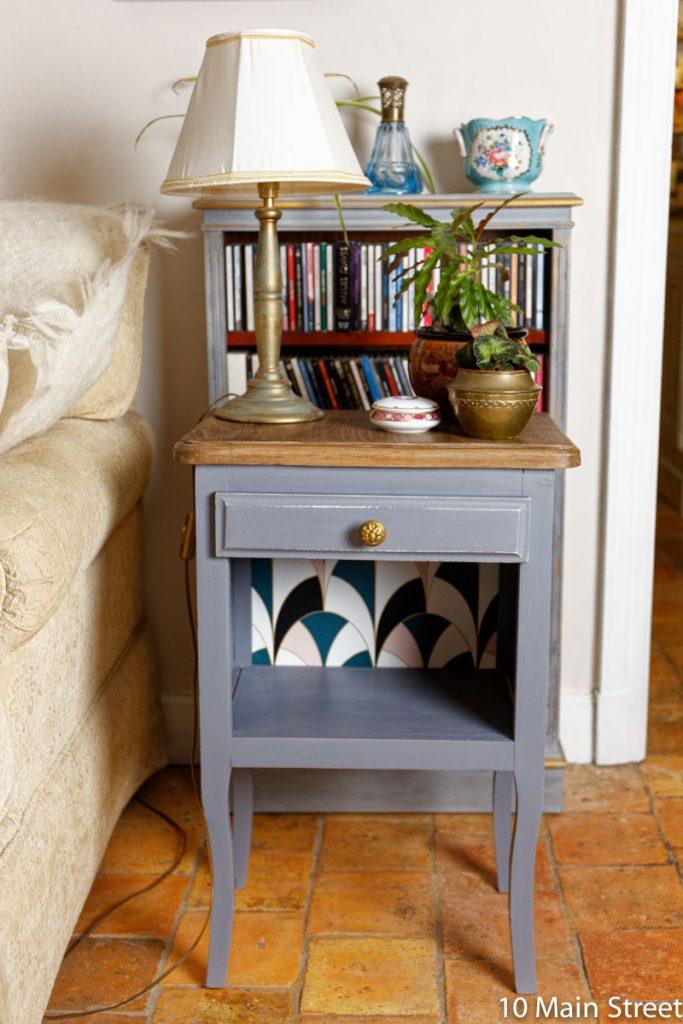 Le résultat de la chalk paint maison au plâtre sur un meuble