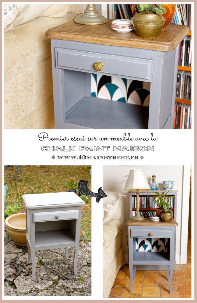 Chalk paint maison au plâtre : premier essai sur un meuble + recette - DIY chalk paint with Plaster : recipe !