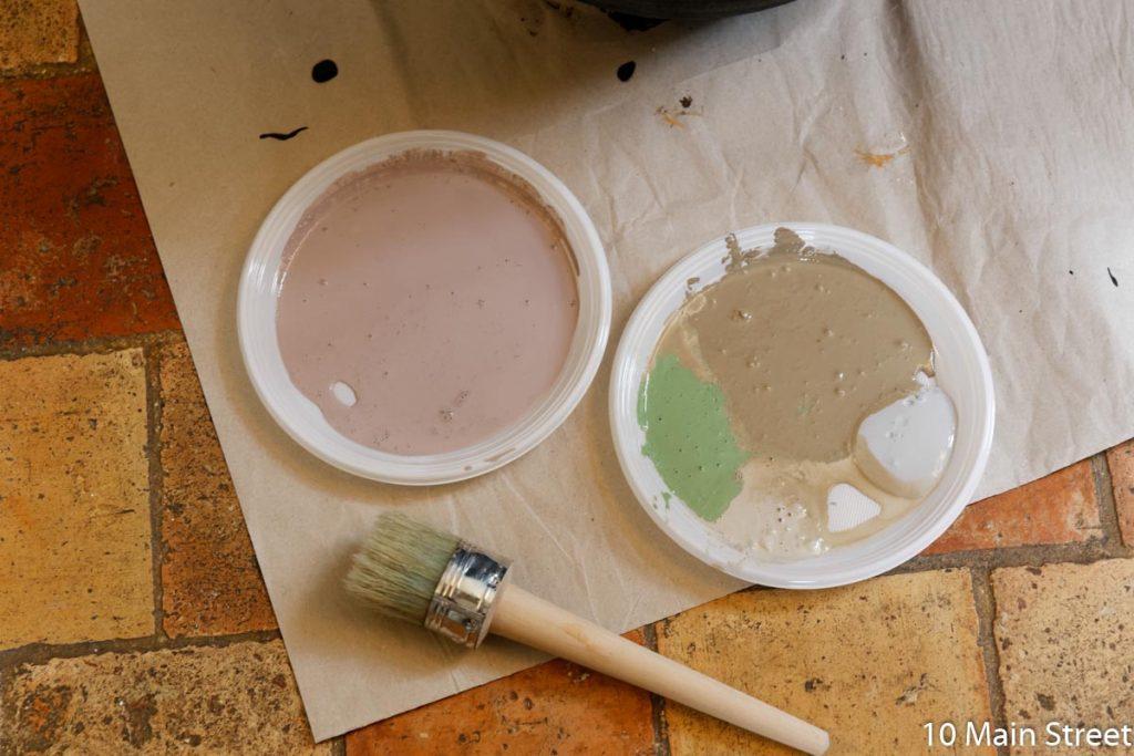 Restes de peinture acrylique
