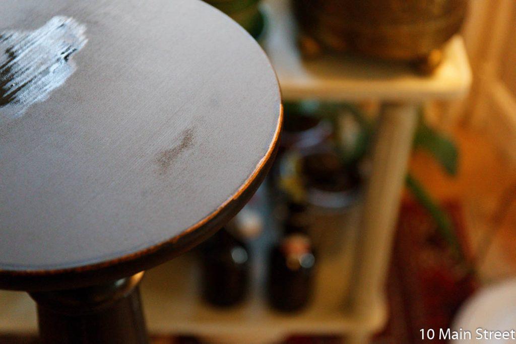 Effet vieilli au chiffon mouillé