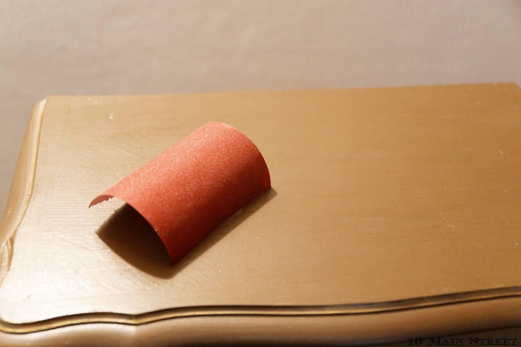 Préparation avec un papier de verre fin