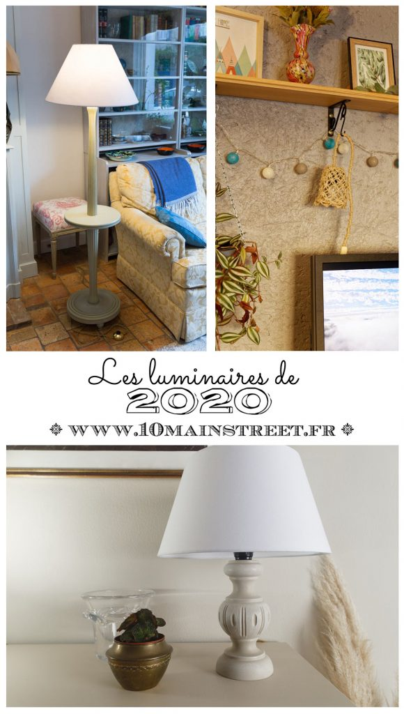 Petits objets de 2020 : les luminaires #upcycling #relooking