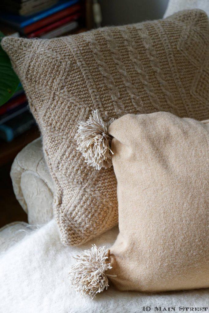 Fabriquer un coussin avec un vieux gilet : le résultat