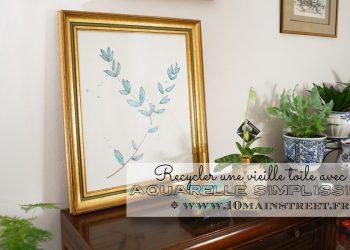 Une aquarelle simplissime, ou comment recycler une vieille toile bonne à jeter