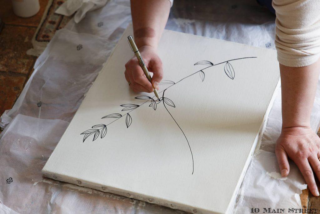 Dessin de feuilles stylisées