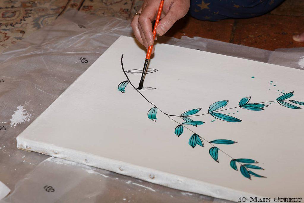 Application de l'aquarelle
