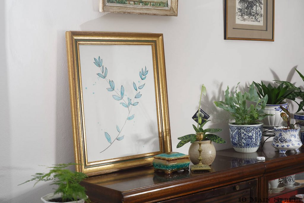 L'aquarelle simplissime dans le salon