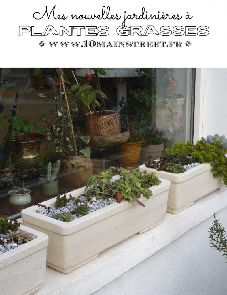 Mes nouvelles jardinières à plantes grasses #succulentes