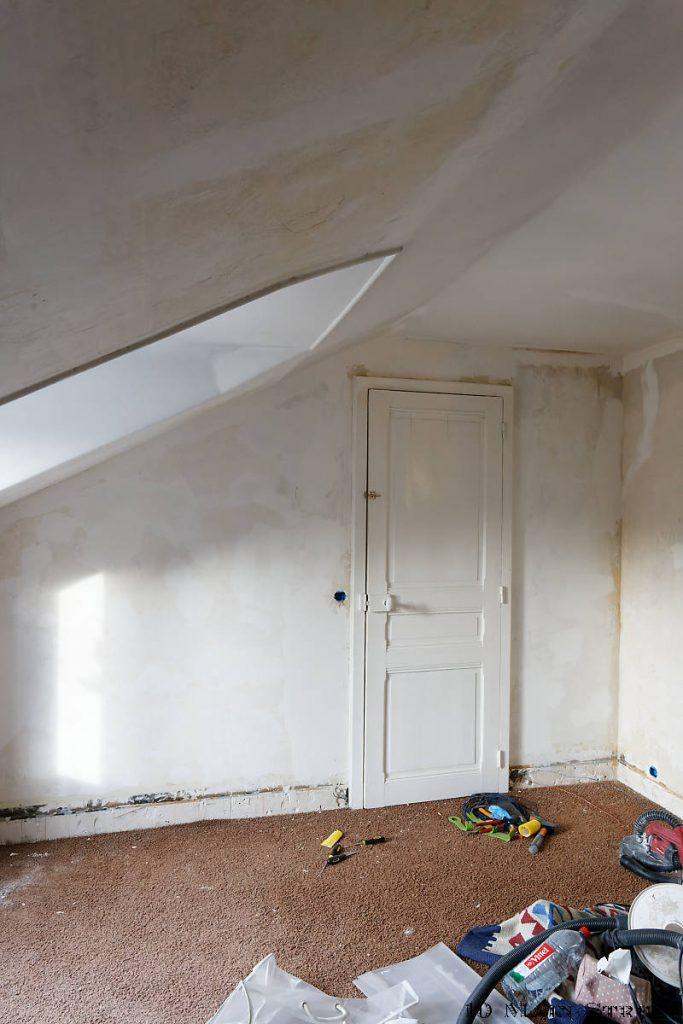 Rénovation en cours de la 2e chambre