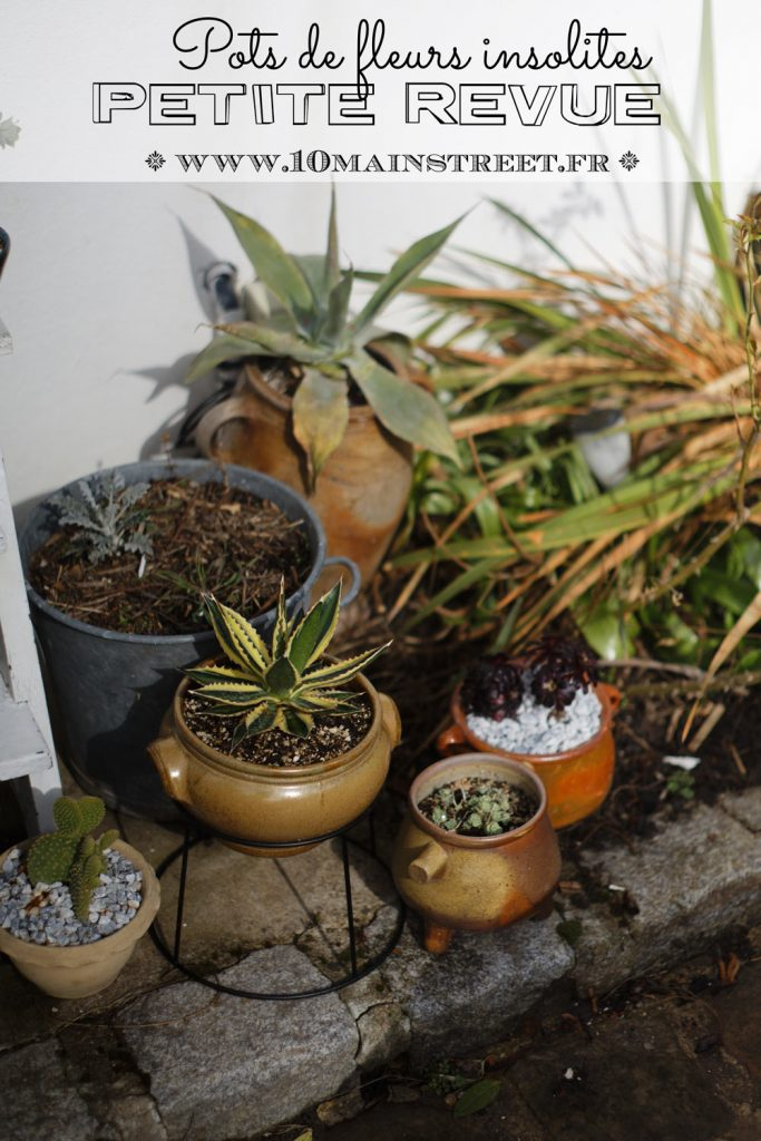 Pots de fleurs insolites : petite revue #plantaddict #retourdechine #recup