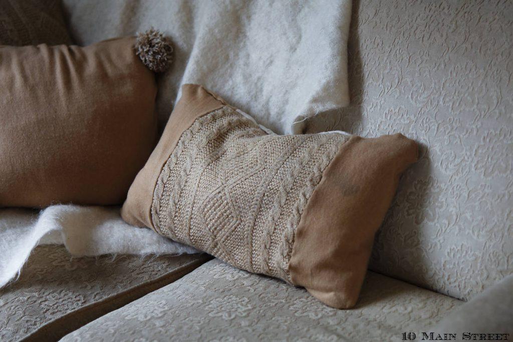 Différentes textures tricotées