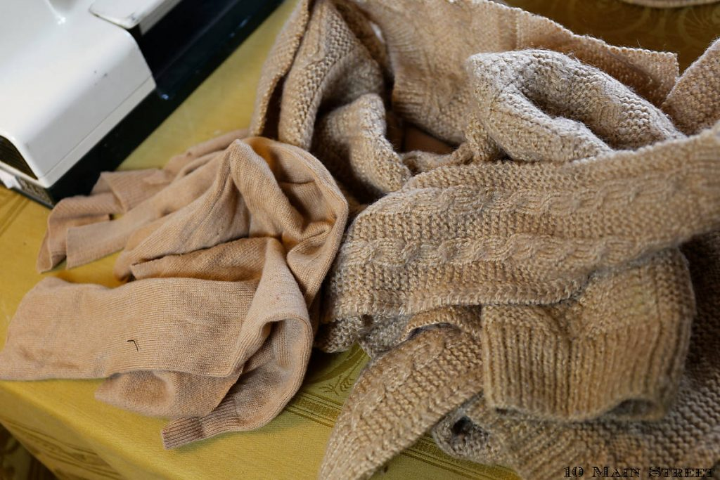 Restes de vêtements tricotés