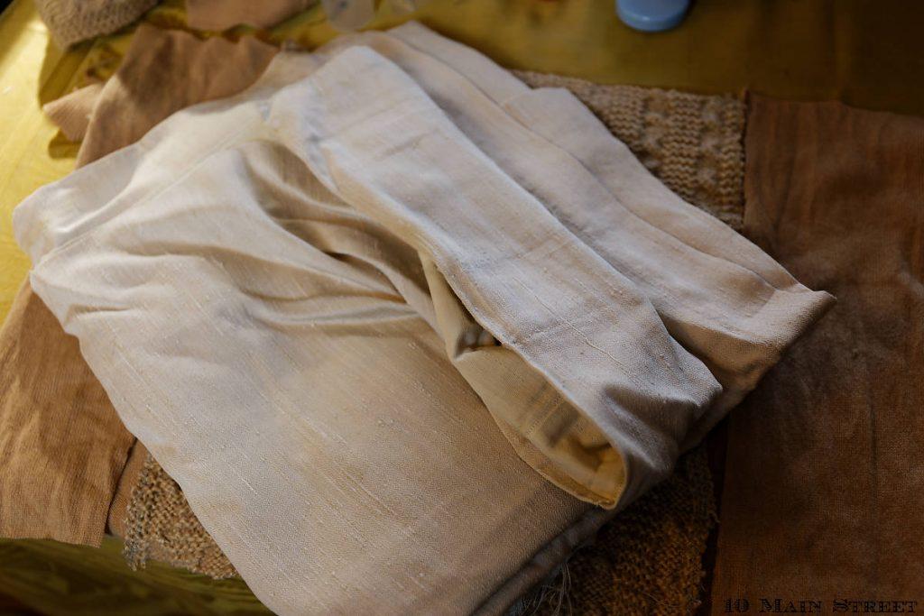Reste de rideau à utiliser pour le dos du coussin