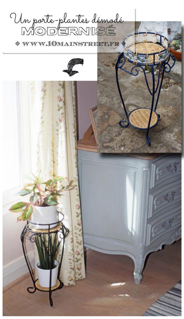 Un porte-plantes démodé modernisé #recup #relooking #furnitureflip