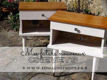 Mes futurs nouveaux chevets : relooking de tables de chevet vintage des années 1960/70