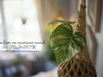 Réaliser un macramé mural à plante