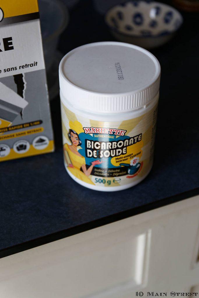 bicarbonate de soude pour fabriquer de la peinture à la craie