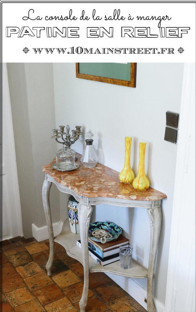 Re-relooking de la console de la salle à manger | patine en relief | furniture makeover | DIY chalk paint