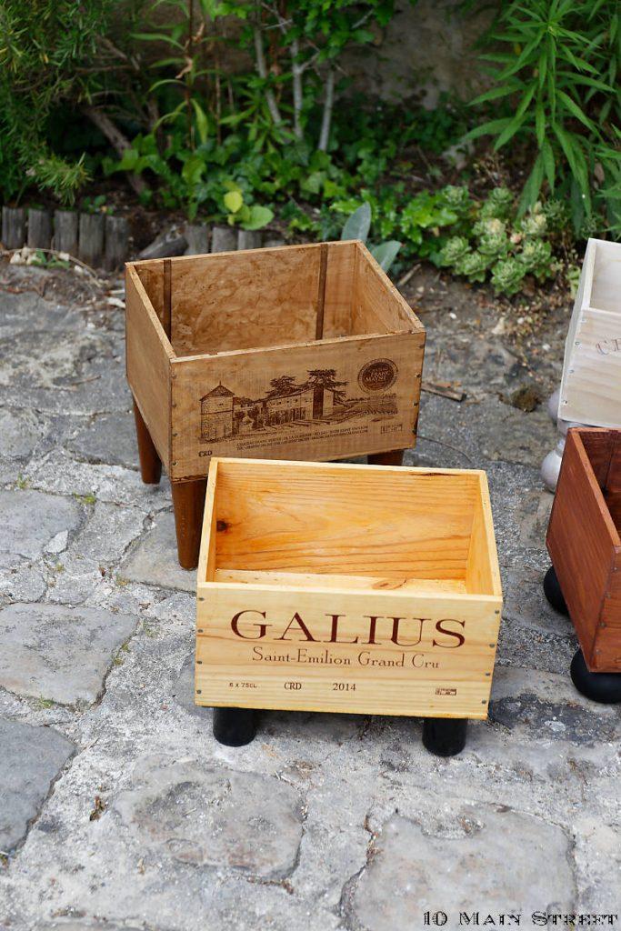 Caisses à vin recyclées