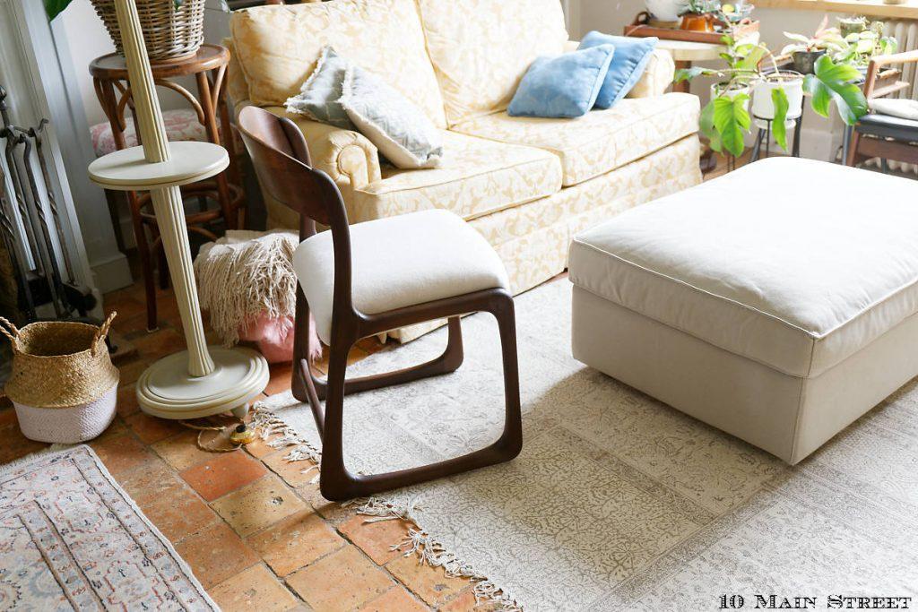 La chaise traîneau restaurée