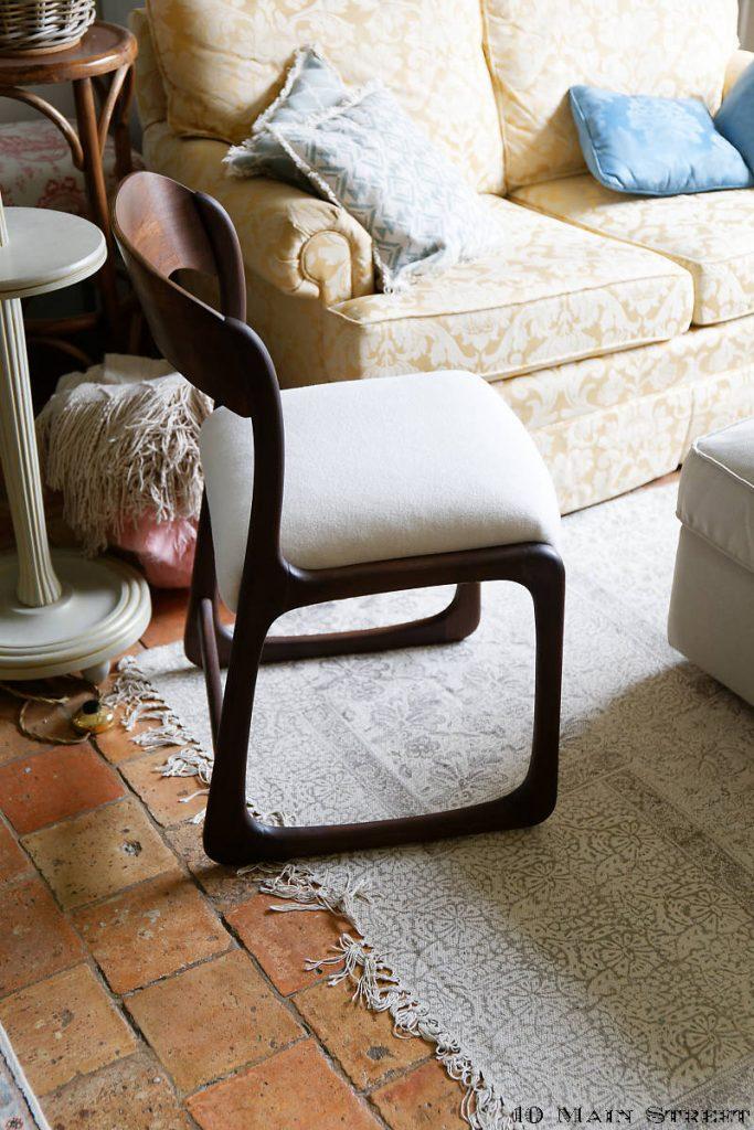Chaise traîneau rénovée