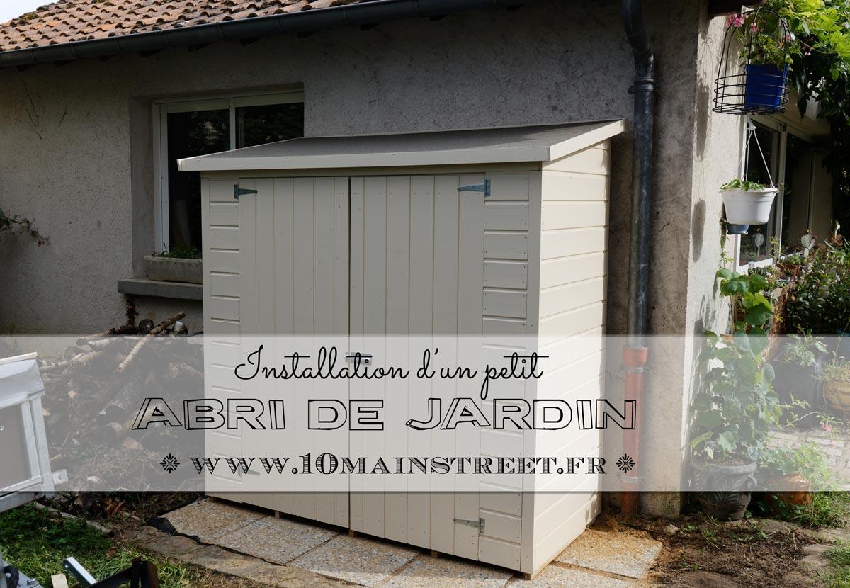 Installation d'un petit abri de jardin
