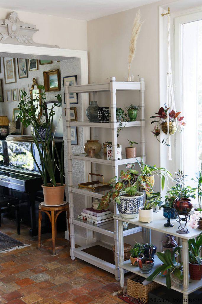 Multitude excessive de supports à plantes