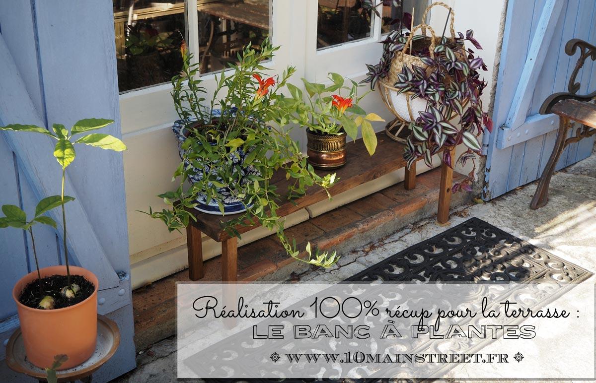 Banc à plantes 100% récup et amélioration de la terrasse