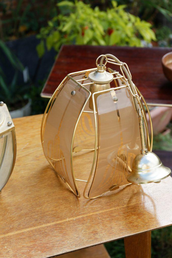 Luminaire vintage en verre à transformer