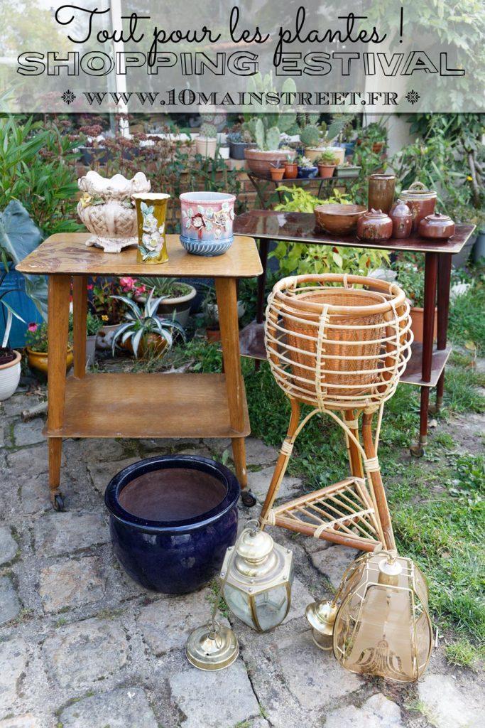 Shopping estival : tout pour les plantes ! Meubles vintage mid-century, poterie artisanale, cache-pots et rotin